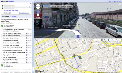 Google Maps ridisegnata. Street View anche frontale…