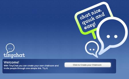 TinyChat: creare chat gratuite in un istante