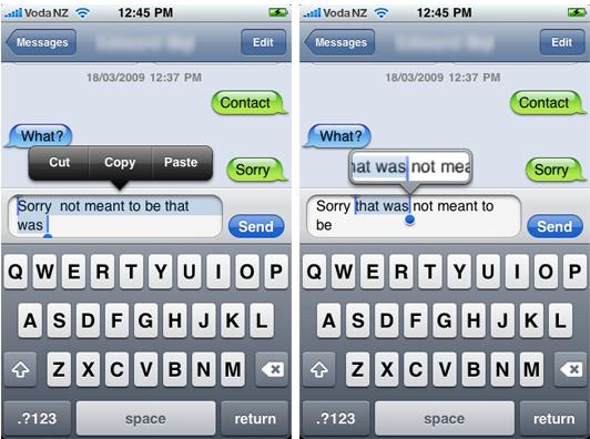 iPhone 3.0: i primi screenshot