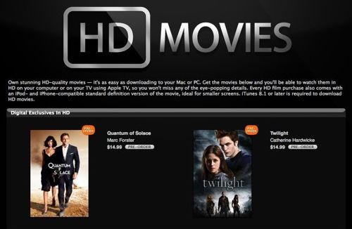 Apple aggiunge i film in HD su iTunes