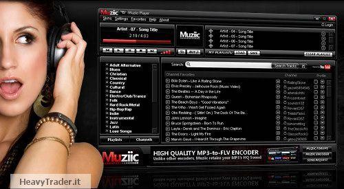 Muziic: ascoltare musica in streaming gratuitamente