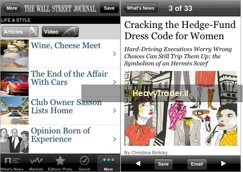 Leggere il Wall Street Journal gratuitamente su iPhone
