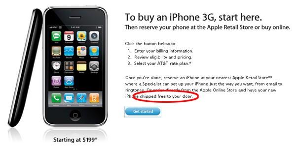iPhone 3G: ora si vendono online (solo in America)