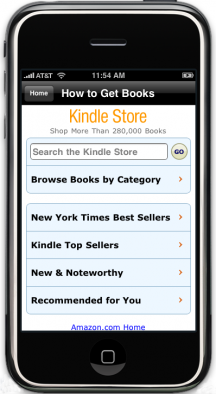 Amazon ottimizza il kindle store per iPhone