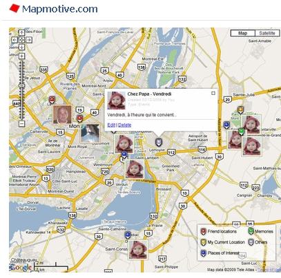 Mapmotive: i vostri amici di Facebook su Google Maps