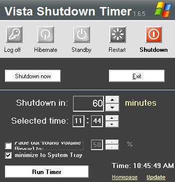 Vista Shutdown: il timer che spegne da solo il vostro pc