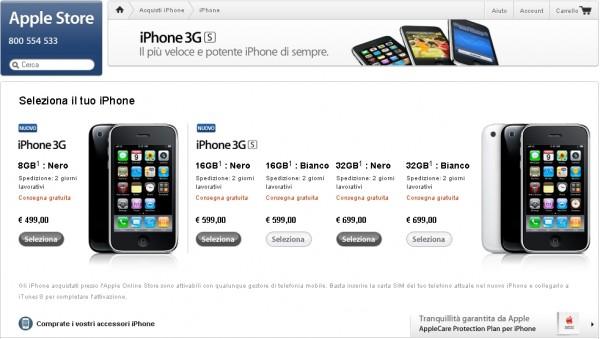 E' arrivata la conferma. Apple vende iPhone 3G e 3G S a prezzi scontati