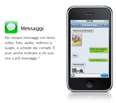 Come configurare l'invio MMS con iPhone 3.0?