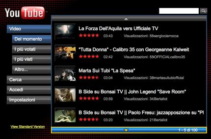Arriva YouTube per la televisione: YouTube XL