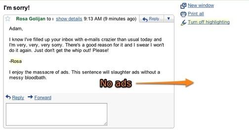 Come eliminare gli annunci pubblicitari da Gmail