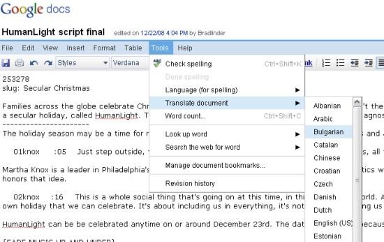 google-docs-translate