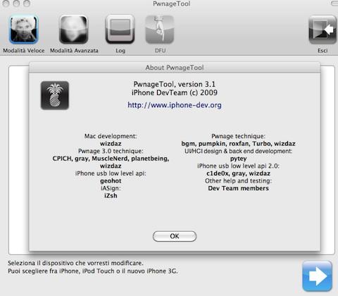 DevTeam rilascia PwnageTool. Come sbloccare (jailbreak) l'iPhone 3.1
