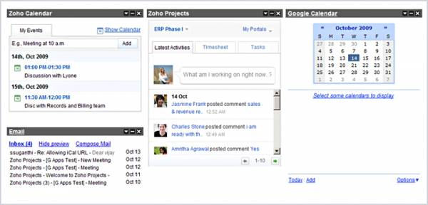 Zoho Projects si integra con Google Apps