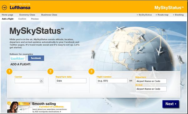 MySkyStatus: Lufthansa mai stata cos social