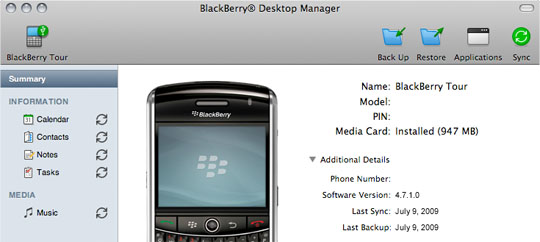 Ora il BlackBerry parla con il Mac….[nonsoloiPhone]