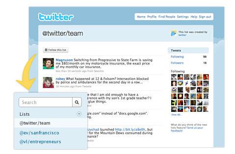 "Twitter lancia le ""liste"""