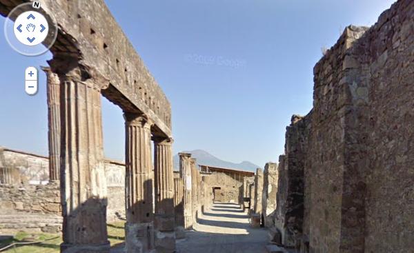 …a passeggio per Pompei con Google Street View!