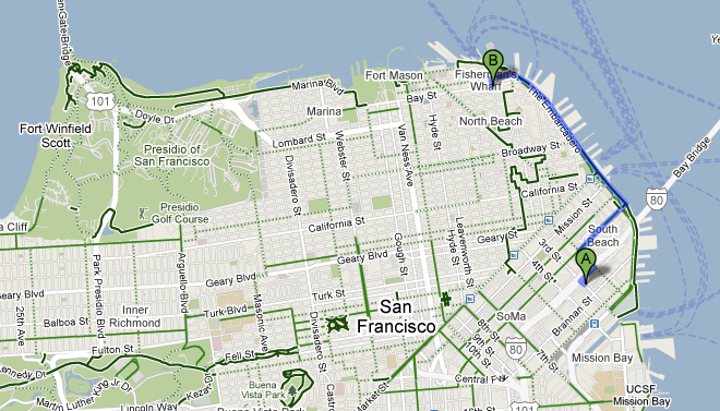 Google Maps aggiunge le indicazioni per chi va in bici