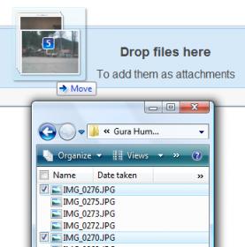 Gmail: arrivano gli allegati drag & drop