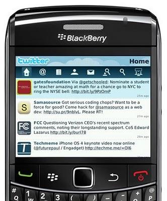 Twitter: arriva l'applicazione ufficiale per Blackberry