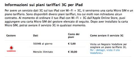 iPad: le tariffe di Vodafone e H3G