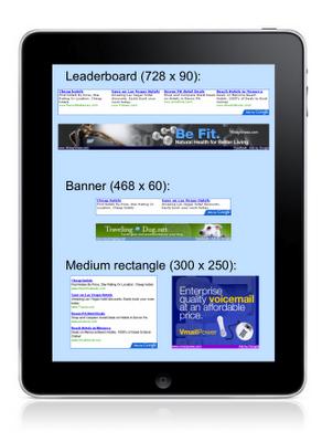 iPad: Google introduce un nuovo formato di Adv