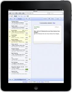 Gmail modifica l'interfaccia per iPad