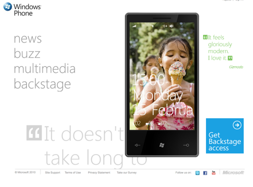 Microsoft:  nato Windows Phone 7 Series