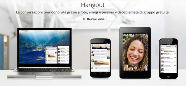 Google Hangout: disponibile per iPhone e iPad
