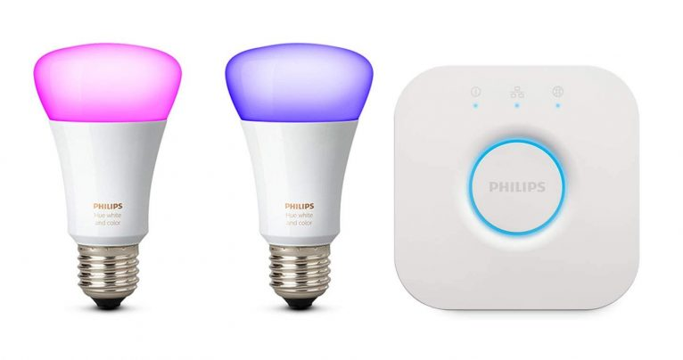 Philips Hue Starter Kit con due lampadine e un Bridge solo per oggi a 69,99 Euro