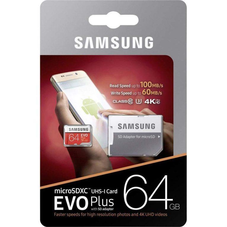 Samsung MicroSD da 64 Gb classe U3, fino a 100 MB/s a 16,99 Euro